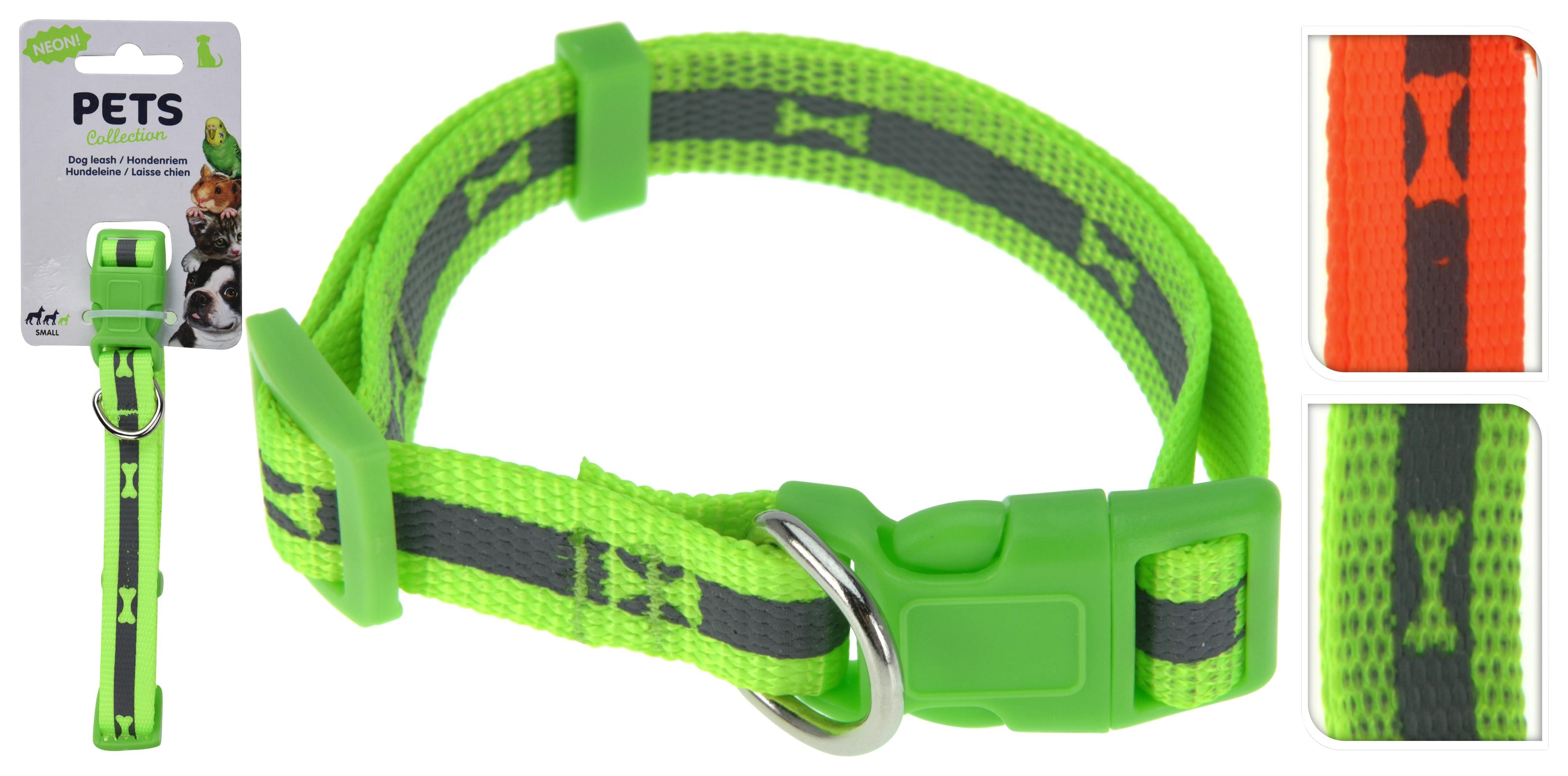 Hundehalsband Reflektierend Small 348000020 - Orange/Grün, Basics, Kunststoff/Textil (40cm)