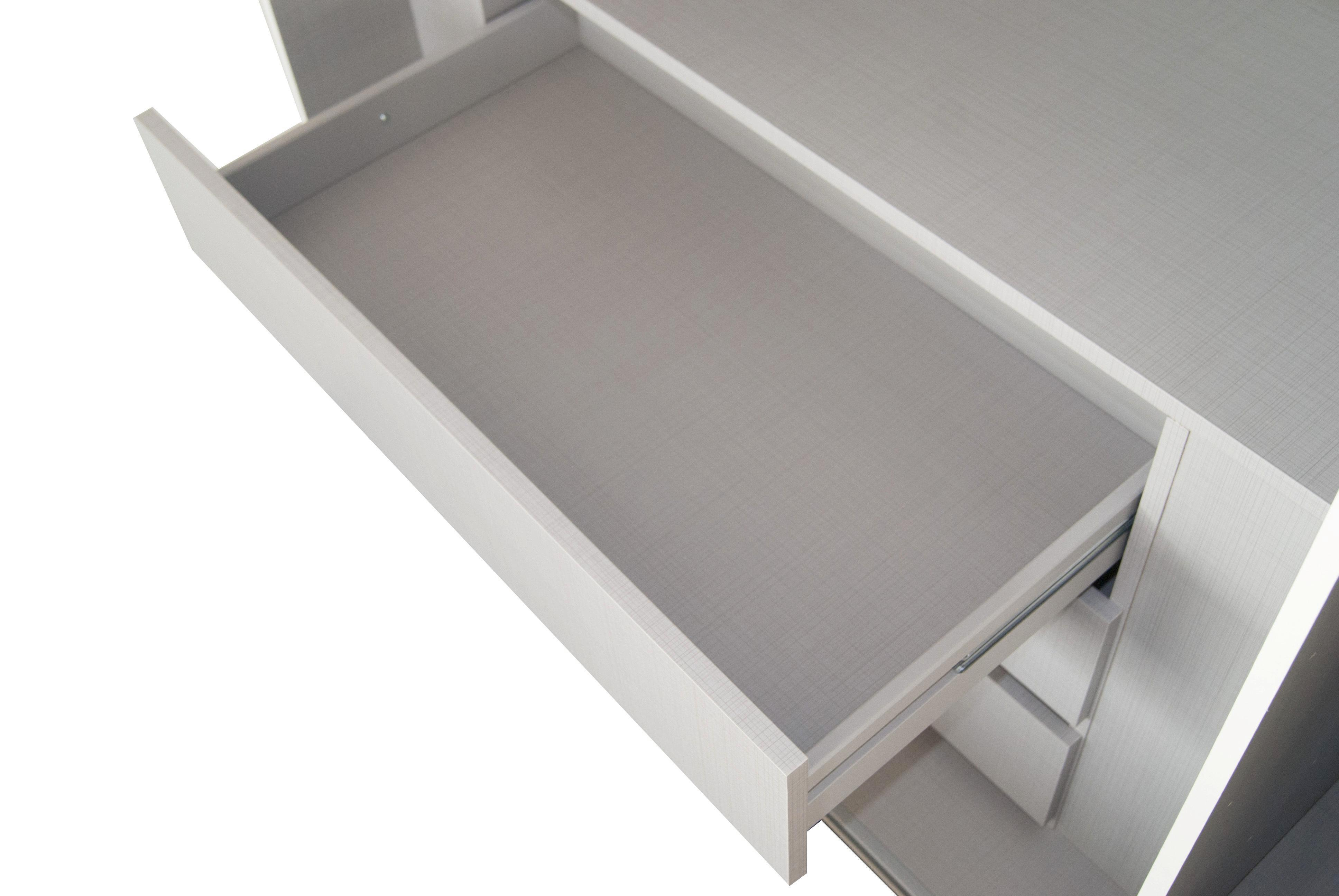 Fiókos Betét Escape - szürke, modern, fa/faanyagok (96/54/43cm)