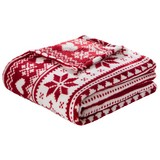 Kuscheldecke X-Mas - Rot, MODERN, Textil (130/170cm) - Luca Bessoni