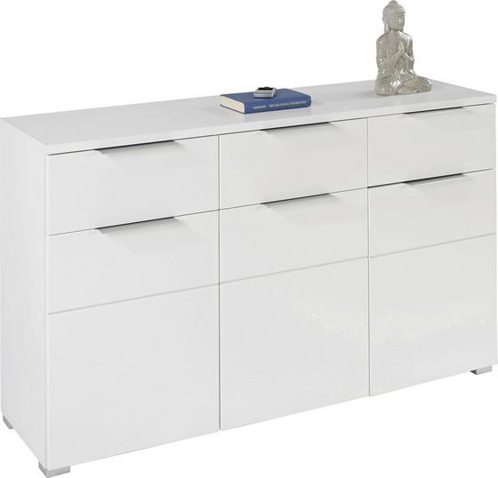 Kommode Chris 3D 3s - Weiß, MODERN, Holzwerkstoff (135/81.8/38cm)