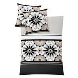 Makosatin Bettwäsche Ravenna, Kiesel - Grau, MODERN, Textil - KLEINE WOLKE