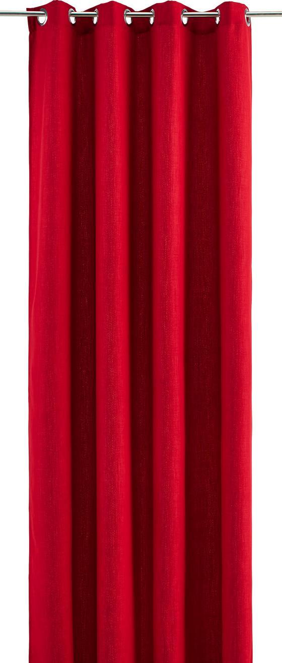 Závěs Hotový Ulli - červená, textilie (140/245cm) - Mömax modern living