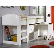 Postel Jette - bílá/barvy dubu, Moderní, dřevěný materiál (98/127/204cm)