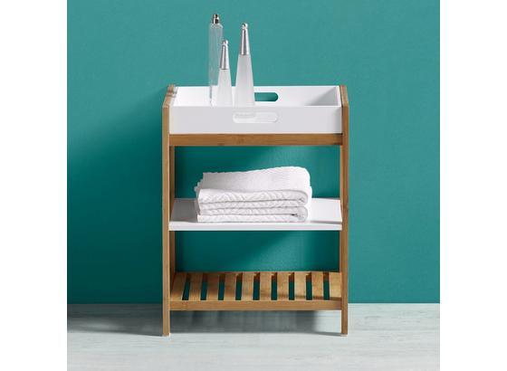 Regál Do Koupelny Mirella - bílá/barvy buku, Moderní, dřevo (40/50/30cm) - Modern Living