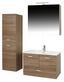 Kúpelňa Bergamo - farby dubu/biela, Konvenčný, drevený materiál/keramika (80/190/46cm)