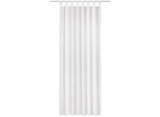 Kombivorhang Kamina - Weiß, MODERN, Textil (140/255cm) - Luca Bessoni