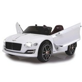 Kinderauto Ride-On Bentley Exp12 Weiß - Silberfarben/Schwarz, Basics, Kunststoff (108/60/44cm)