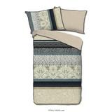 Bettwäsche Sarah - Sandfarben/Blau, Basics, Textil