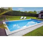 Styroporpool Set Standard 700 X 350 X 150cm - Weiß, MODERN, Kunststoff (700/350/150cm)