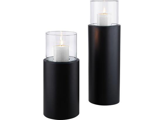 Stojan Na Svíčku Fire Tower - černá/čiré, kov/sklo (23/71cm) - Mömax modern living