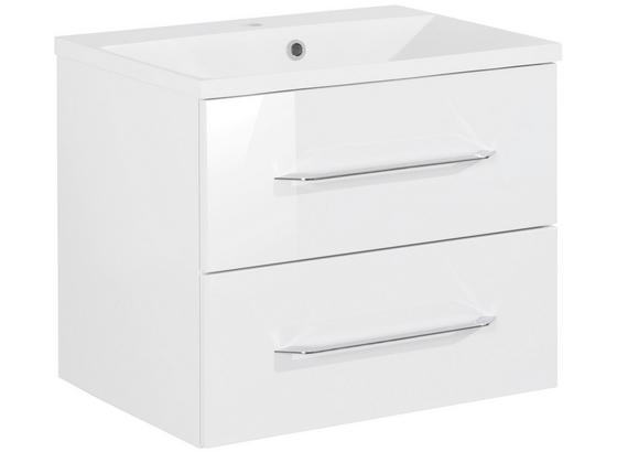 Waschtischkombi B.clever 60 cm Weiß - Weiß, MODERN, Holzwerkstoff/Kunststoff (60/51/46cm) - Fackelmann