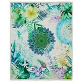 Kuscheldecke Viridi - Multicolor/Grün, Textil (130/160cm)