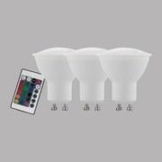 LED-Leuchtmittel 3er Pack 220 lm, Gu10 - Weiß, MODERN, Glas (5,3/5,4cm)