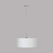 Hängeleuchte Pasteri - Weiß/Nickelfarben, MODERN, Textil/Metall (53/110cm)
