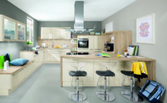 Kuchyně Na Míru Florenz - bílá/barvy stříbra, Moderní, dřevěný materiál