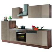 Küchenblock Verona 280cm Sahara/eiche Dek. - Eichefarben/Sahara, Basics, Holzwerkstoff (280/60cm)