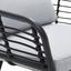 Loungegarnitur Bodrum - Dunkelgrau/Schwarz, MODERN, Glas/Textil - Ombra