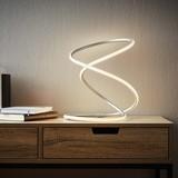 Stolová Lampa Reggie Led - biela/farby striebra, Moderný, umelá hmota/kov (26/26/35cm) - Modern Living