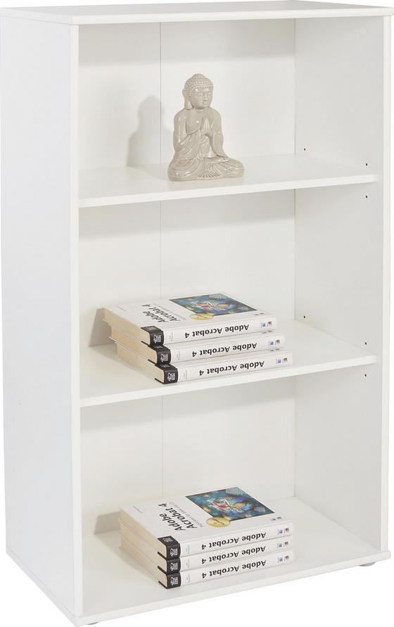 Regál Josef 5 - biela, Moderný, kompozitné drevo (60/110/30cm)