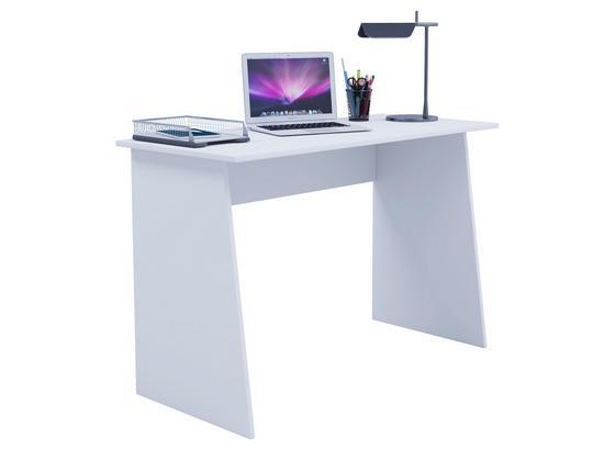 Schreibtisch B 110cm H 74cm Masola Maxi, Weiß - Weiß, Basics, Holzwerkstoff (110/74/50cm) - Livetastic