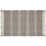 Handwebteppich Flora 60x90 cm - Grau, Textil (60/90cm) - Ombra