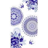 Strandtuch ca. 100/180cm Blau/Weiß - Blau/Weiß, Basics, Textil (100/180cm)