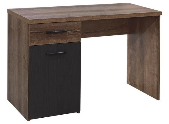 Písací Stôl Tokio -exklusiv- - farby dubu/čierna, Moderný, kov/kompozitné drevo (110/76,5/52,7cm)