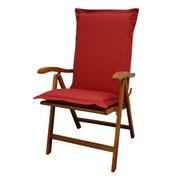 Sesselauflagenset Premium T: 120 cm Rot - Rot, Basics, Textil (50/8-9/120cm) - MID.YOU
