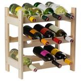 Weinregal Vino 12 Flaschen Kiefer - Kieferfarben, KONVENTIONELL, Holz (45/45/25cm)