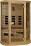 Infrarot Wärmekabine Nordic Comfort - Naturfarben, KONVENTIONELL, Glas/Holz (152/195/112cm)