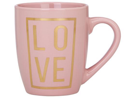 Hrnek Na Kávu Love - růžová/barvy zlata, Moderní, keramika (8,5/10,5cm) - Mömax modern living