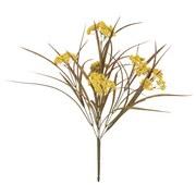 Kunstblume Gras mit Fruchtstand Grün/Gelb - Gelb/Grün, MODERN, Kunststoff (44cm)