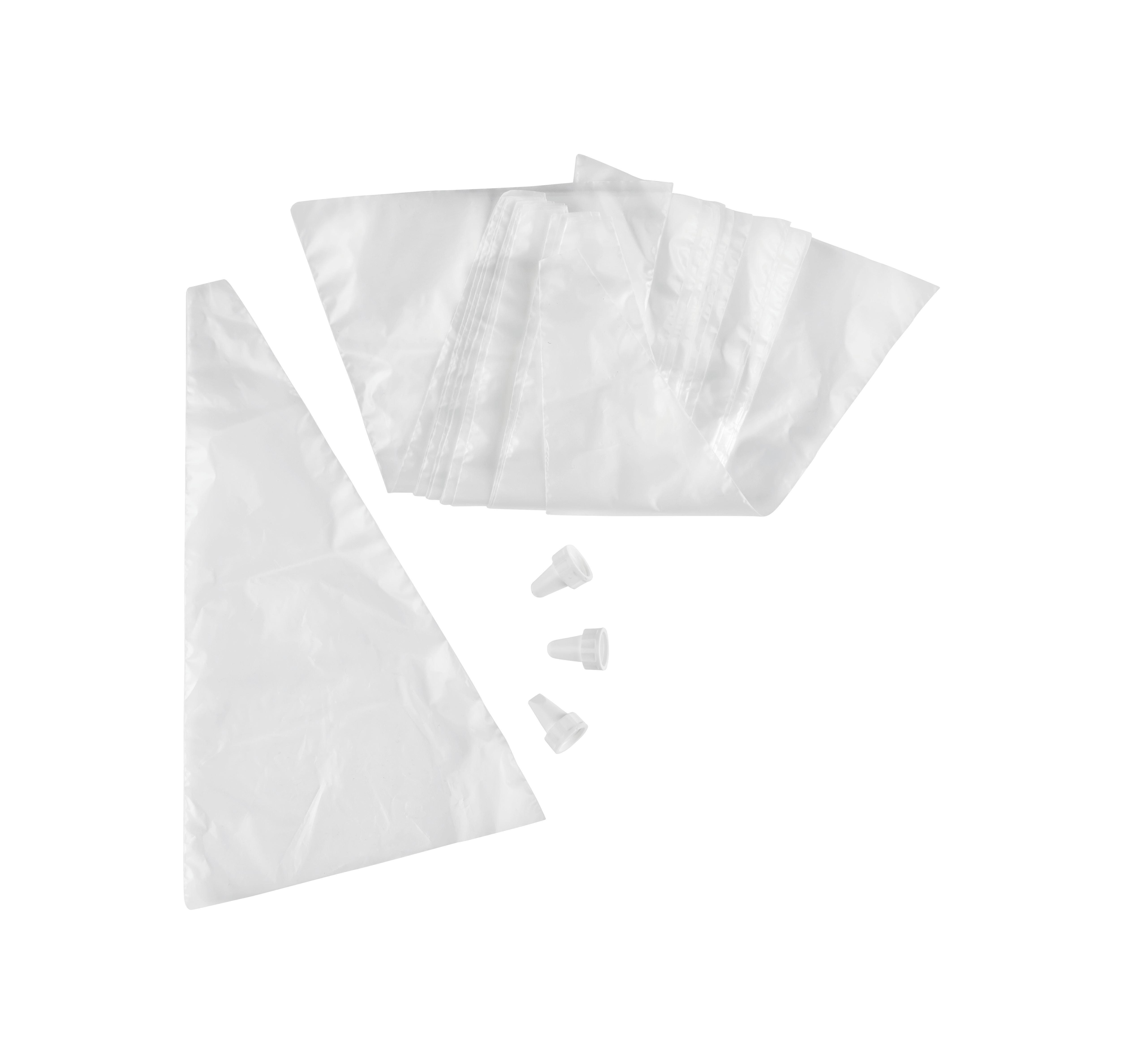 Jednorázový Sáček 20 Kusov - bílá/čiré, Konvenční, umělá hmota