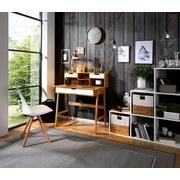 Schreibtisch Göteborg 100cm Eiche Dekor - Naturfarben, MODERN, Holz/Holzwerkstoff (90/100/55cm) - Ombra