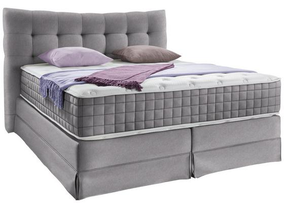Boxspringbett Domino ca.160/200cm, Steingrau - Grau, KONVENTIONELL, Holz (160/200cm) - James Wood
