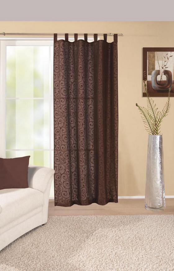 Készfüggöny Elegance - barna, konvencionális, textil (140/255cm) - OMBRA