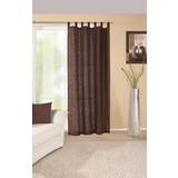 Kombivorhang Elegance - Braun, KONVENTIONELL, Textil (140/255cm) - OMBRA