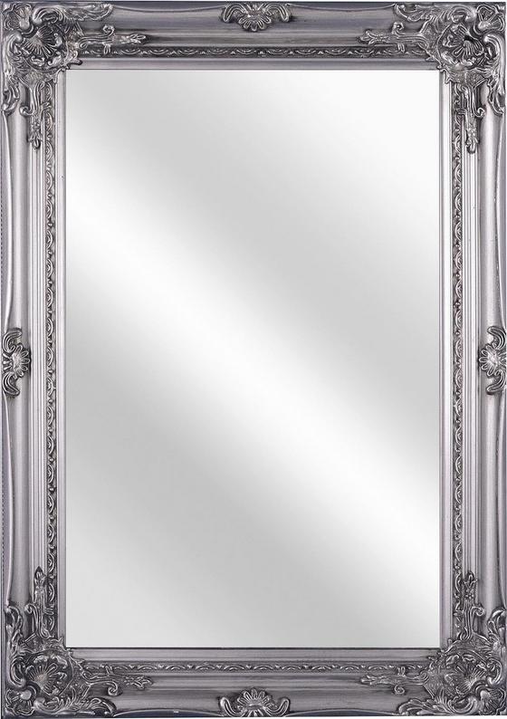 Nástenné Zrkadlo Walter - farby striebra, Moderný, drevený materiál/sklo (50/70/3,5cm)