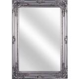 Nástenné Zrkadlo Walter - strieborná, Moderný, kompozitné drevo/sklo (50/70/3,5cm)