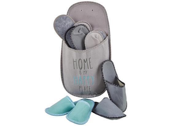 Sada Papúč Pre Hostí Home - sivá/antracitová, textil (35-45null) - Mömax modern living