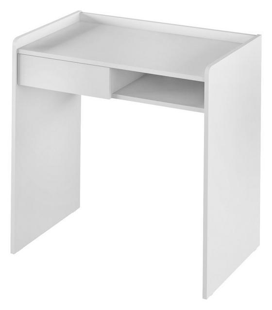 Schreibtisch Bady 80 cm Weiß - Weiß, MODERN, Holzwerkstoff (80/80/50cm)