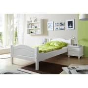 Bett Rita 90x200 cm Weiß - Weiß, Natur, Holz (90/200cm) - Carryhome