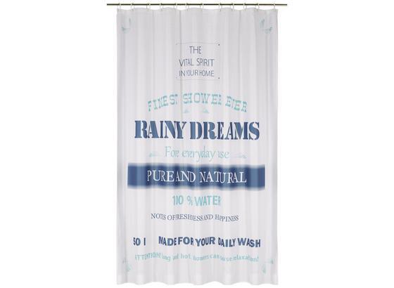 Záves Do Sprchovacieho Kúta Rainy Dreams - modrá, textil (180/200cm) - Mömax modern living