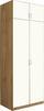 Aufsatzschrank Karo, 2trg - Eichefarben/Weiß, KONVENTIONELL, Holz (91/39/54cm)