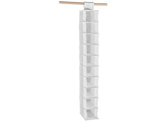 Závěsný Úložný Prostor Cliff 1 - bílá, Moderní, textil (15,5cm)