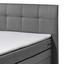 Boxspringbett mit Bettkasten 180x200cm Sacramento B2, Grau - Grau, Basics, Holzwerkstoff/Textil (180/200cm) - Carryhome