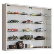 Hängevitrine Mandosa L B: 80 cm Weiß Dekor - Transparent/Weiß, KONVENTIONELL, Glas/Holzwerkstoff (80/60/10cm) - MID.YOU