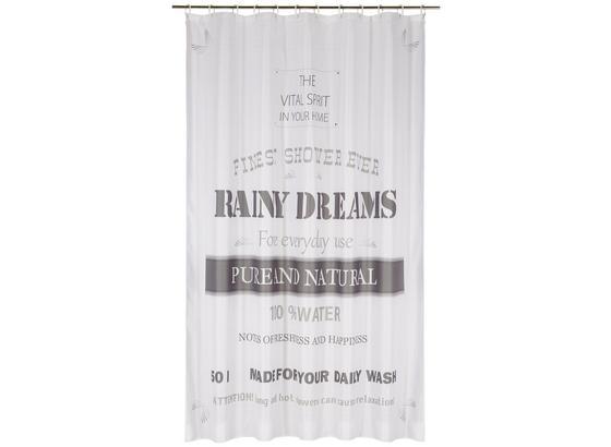 Záves Do Sprchovacieho Kúta Rainy Dreams - sivá, textil (180/200cm) - Mömax modern living