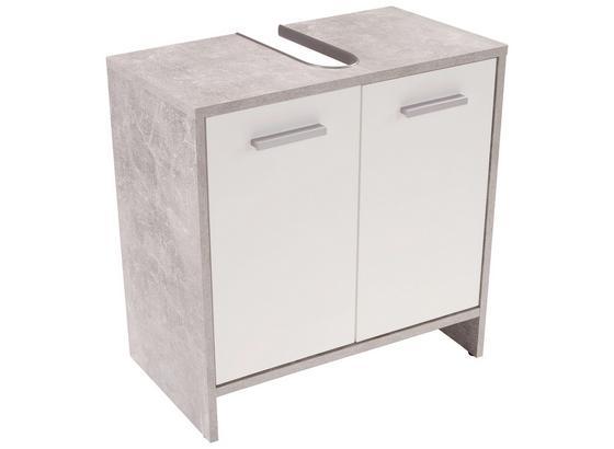 Spodní Skříňka Pod Umyvadlo Attack - bílá/světle šedá, Moderní, kompozitní dřevo (60,4/55/28cm)