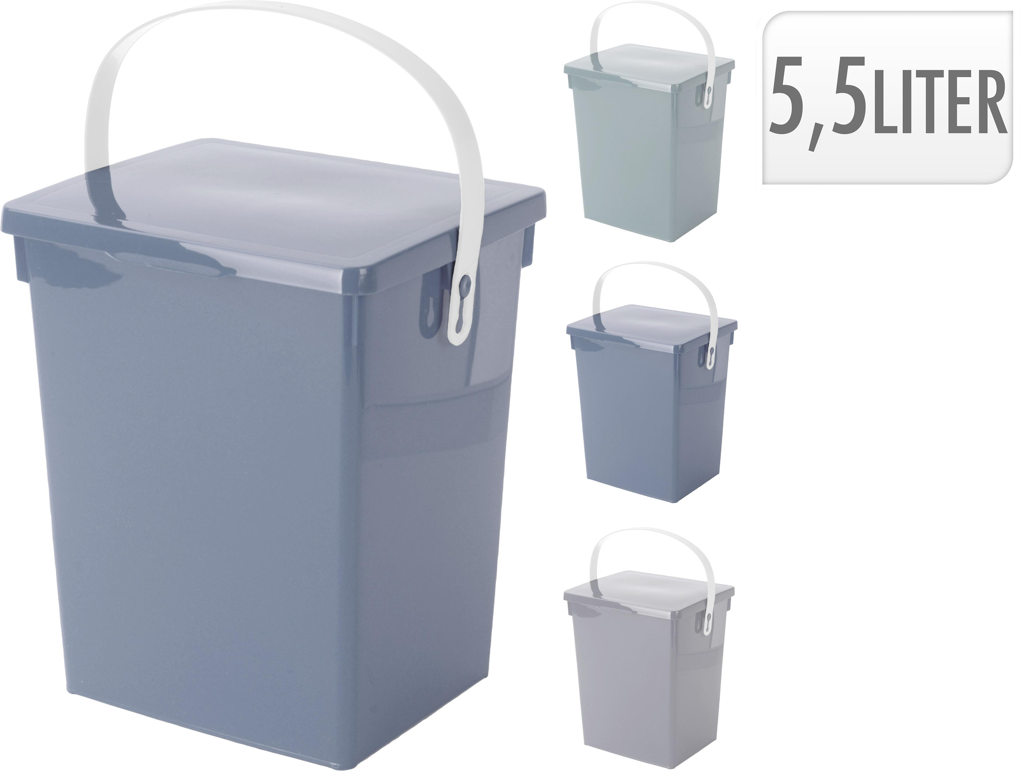 Wei/ß Minky Homecare Komposteimer